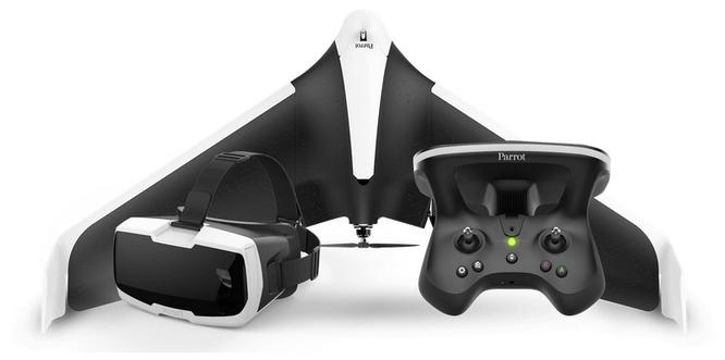 Pack complet avec aile volante, Skycontroller 2 et lunettes FPV