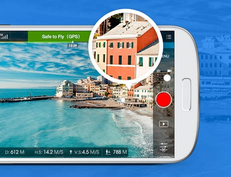 Enregistrez vos vidéos en HD grâce à l\'application DJI GO.