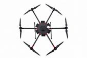 Drone DJI Matrice 600 - vue du dessus