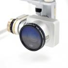 Ce filtre se monte facilement sur la caméra du DJI Phantom 3 et Phantom 4. Il suffit de le visser à la place du filtre d\'origine.