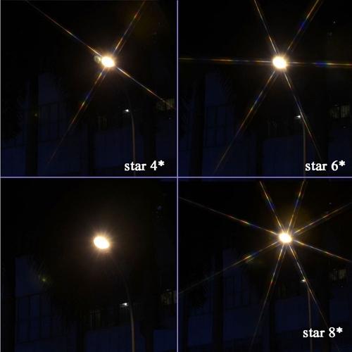 Cet ensemble de filtres étoiles vous donnera des résultats très qualitatifs en fonction de votre choix avec 2, 4 ou 8 rayons.