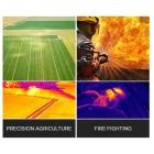 Schéma 3 montrant les applications possibles avec la nacelle et caméra DJI Zenmuse XT FLIR R 30Hz - Radiométrique