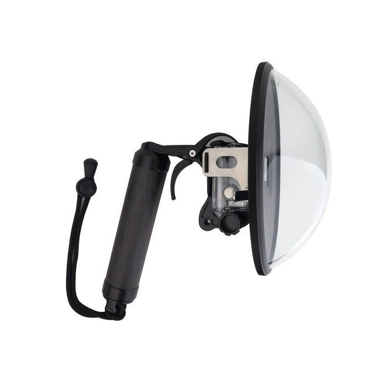 Dôme et poignée pour GoPro Hero 3/3+ et 4 dôme et poignée vue de côté