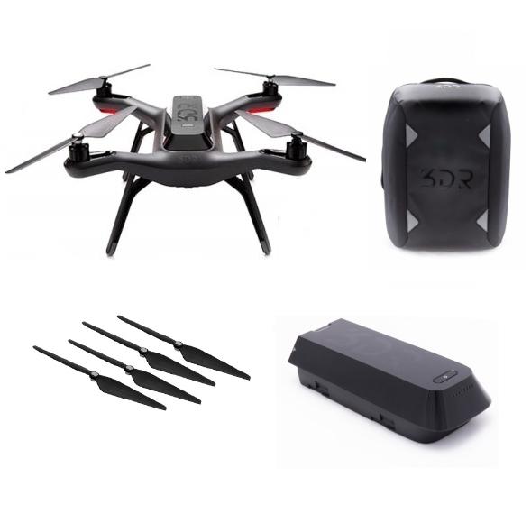 Drone 3DR SOLO + sac à dos + batterie & hélices