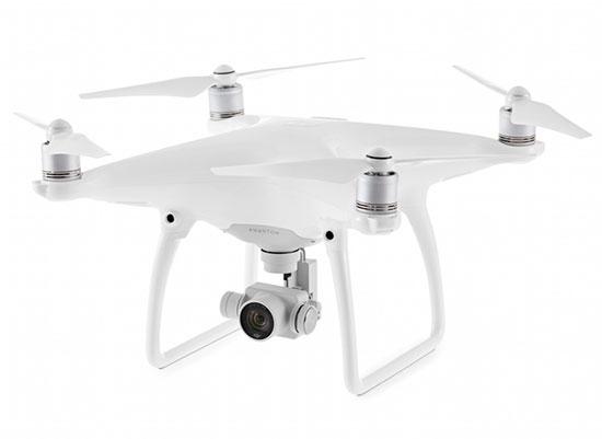 Drone de remplacement DJI Phantom 4 (sans radio) - vue de biais