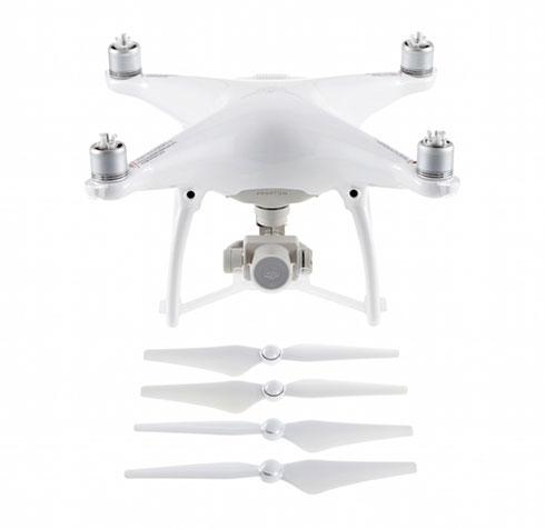 Drone de remplacement DJI Phantom 4 (sans radio) avec hélices et support de maintien de nacelle