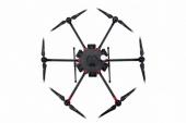 Drone DJI Matrice 600 - vue de dessus