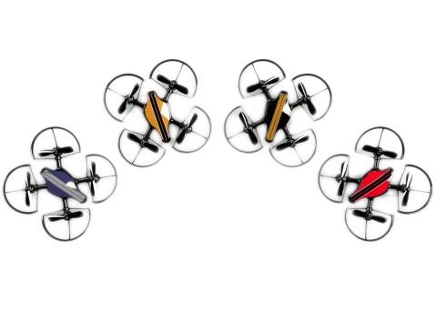 Personnalisez votre drone fighter gx 100 grâce aux stickers de différentes couleurs fournis