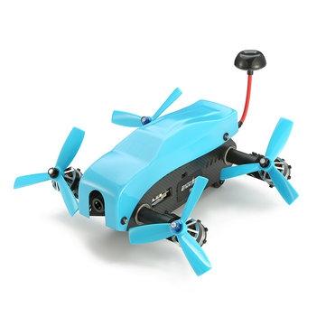 Eachine Racer 180 vue de trois quart avec la coque bleue