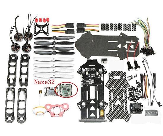 Drone Eachine Racer 250 version DIY en kit à monter
