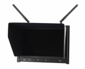 """Écran HD 7"""" 5,8GHz - Lilliput noir - vue de biais"""
