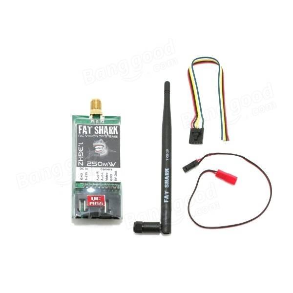 Emetteur 1,3 Ghz Fatshark 250 mW avec ses connecteurs et câbles