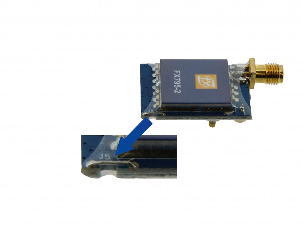 Emetteur vidéo 5.8 Ghz Raceband 40 canaux 25/200 mW - switch puissance