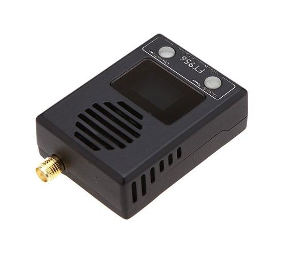Emetteur vidéo 5,8GHz ajustable FT956 à l\'envers et vu de biais