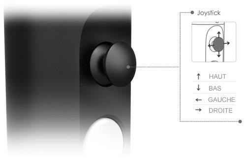 Un joystick de contrôle est intégré au manche du steadycam feiyu G4S afin d\'incliner la caméra ou pour changer les modes de stabilisation