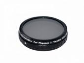 Filtre ND2-400 pour Phantom 3 Standard vue de face filtre
