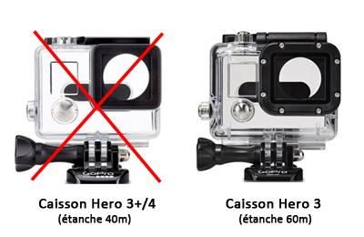 Compatible caisson 60 m GoPro
