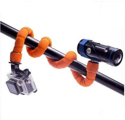 Fixation Snake Bendy Xsories avec caméras embarquées