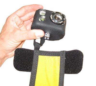 Fixation GoPro jambe pour parapente