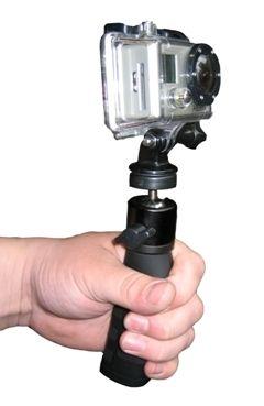 Fixation poing avec rotule pour GoPro