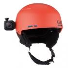 Fixation casque rotative pour Hero Session montée sur un casque rouge