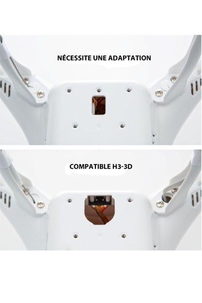 Fixation Zenmuse H3-3D pour Phantom 2 (old)