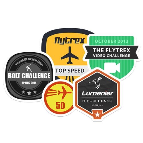 Badges et récompenses disponibles sur le site Flytrex