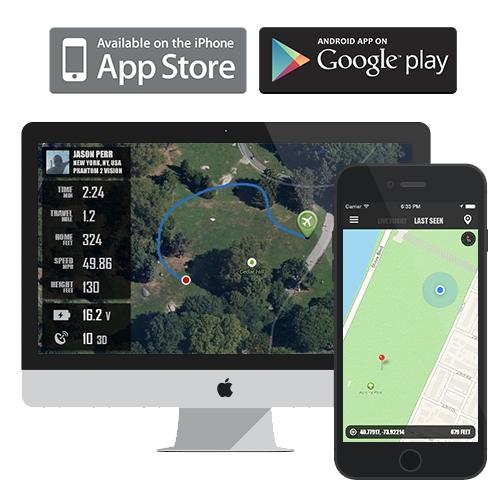 mac et smartphone connectés à l\'application flytrex