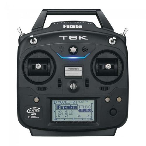 Cette radiocommande Futaba 6K est ergonomique et très fonctionnelle. Elle dispose de la télémétrie, de fonctions audio et d\'un système d\'alertes qui l\'a fait vibrer. Elle est disponible en mode 1 et 2.