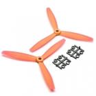 Hélices 6x4 Tripale Horaires GemFan Orange