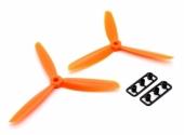 Hélices Tripale Anti-Horaires GemFan 5045 Vert set de 2
