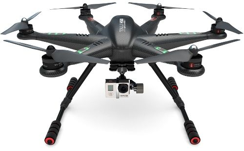 Le drone Walkera Tali H500 est équipé d\'une nacelle brushless 3 axes G-3D et d\'une radiocommande DEVO F12E 2.4GHz