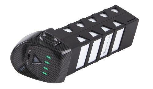 Disposant d\'une autonomie de 25 minutes la batterie du Walkera Tali H500 est intelligente grâce à son afficheur LED.