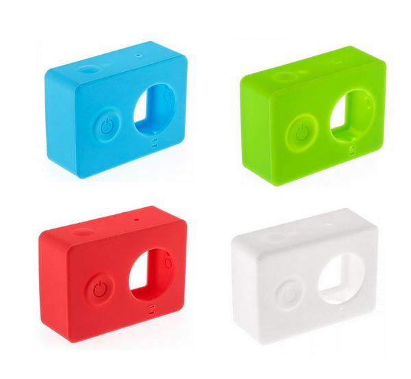 Housse silicone couleur pour Xiaomi Yi Cam verte, rouge, blanche et bleue