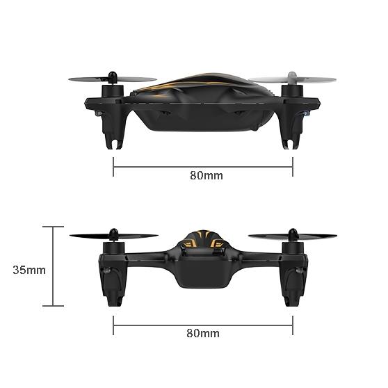 Dimensions du quadricoptère Hubsan X4 Plus (H107P)