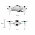 Dimensions du quadricoptère Hubsan X4 H107D+ FPV