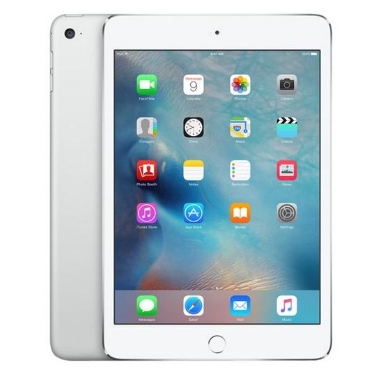 """Tablette 7,9"""" iPad mini 4 WiFi - Apple - vue de face et vue de la tablette de derrière"""