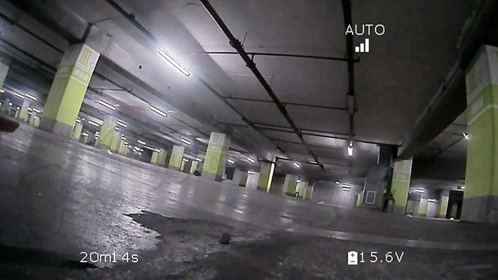 Screenshot du retour vidéo HD du kit de transmission Amimon Connex ProSight
