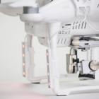 Kit de LED Polar Pro installé sur le drone - vu de côté