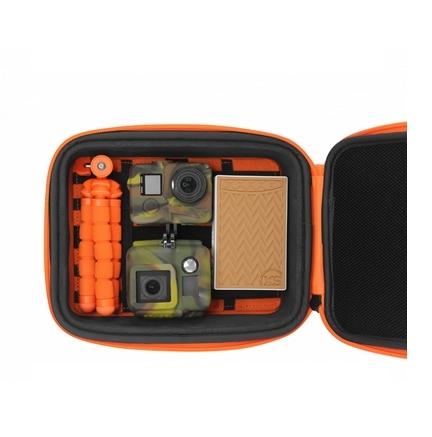 Mallette Universal Large Capxule avec 2 caméras GoPro, un trépied et une batterie nomade