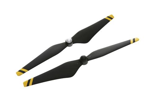 Lot de 2 hélices renforcées carbone DJI E305 9450 (noir rayé jaune)