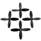 Lumenier 4x4x4 - 4 Blade Propeller (Set of 4 - Black) 4 h�lices vues de face