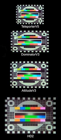 4 vues d\'écrans de lunettes FPV