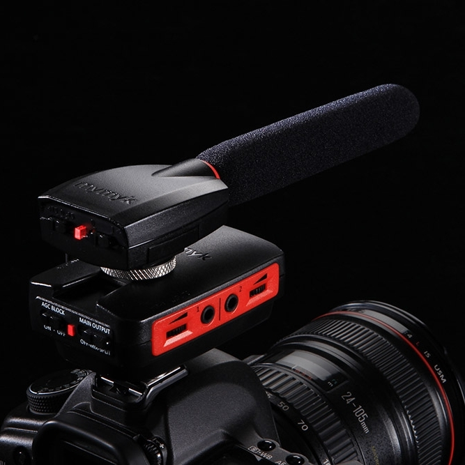 Microphone SmartMyk - MyMyk monter sur un appareil reflex