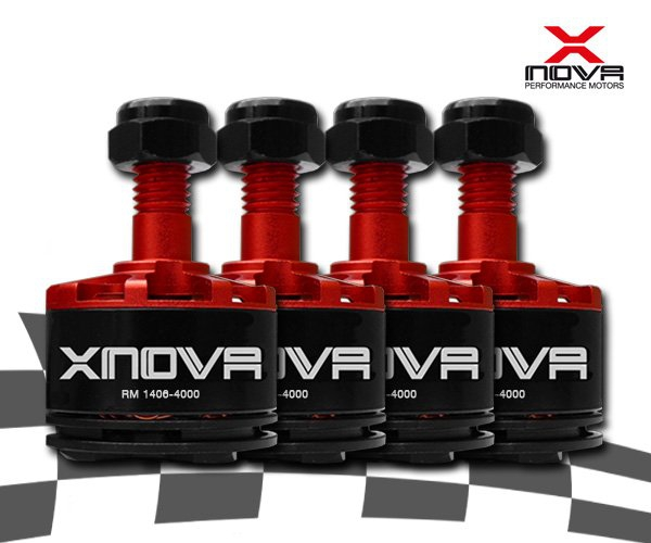 Moteurs Xnova 1406 4000Kv - Boite de 4