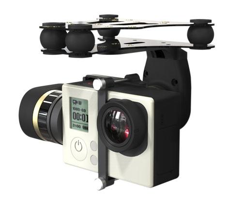 Nacelle Feiyu Mini 2D pour GoPro Hero 3/3+ et 4