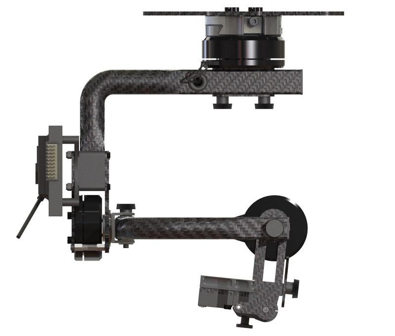 Nacelle Hexadrone HDS3-V2 stabilisée sur 3 axes grâce à de puissants moteurs brushless.