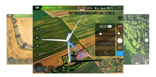 Capture d'écran de l'application DJI GO