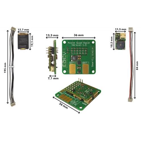 Contrôleur de vol NEURON - dimensions carte et câbles