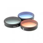 Pack 3 filtres gradu�s (orange, bleu et ND8) pour Phantom 3/4 Polar Pro